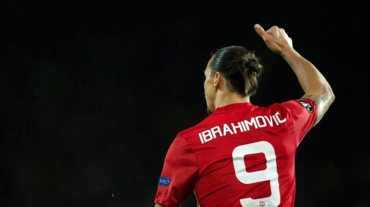 epa05918138 Manchester United's Zlatan Ibrahimovic reacts during the UEFA Europa League quarter final, second leg soccer match between Manchester United and RSC Anderlecht at Old Trafford in Manchester, Britain, 20 March 2017. EPA/PETER POWELL