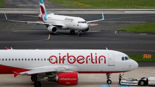 Airberlin er gået i betalingsstandsning, men fortsætter med at udbyde rejser.