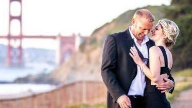Heidi Nunes-Tucker og Jared Tuckerses her på et billede forud for deres bryllup i sommeren 2016.
