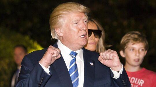 Donald Trump har trods sine mange skandaler som præsident vist, at han er klar til at kæmpe for sine holdninger.