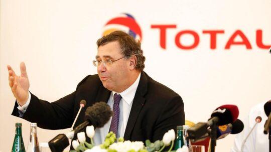 Arkivfoto: Den administrerende direktør for Total, Patrick Pouyanne, overtog rollen fra Christophe de Margerie i 2014, da sidstnævnte døde i en flyulykke.