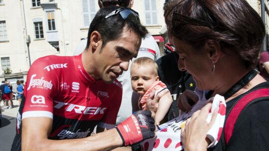 Alberto Contador kunne ikke følge med de bedste på 3. etape i Vueltaen. Scanpix/Jaime Reina/arkiv