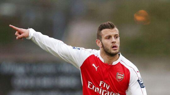 Jack Wilshere er igen tilbage på Arsenals hold efter et lån til Bournemouth. ARKIVFOTO