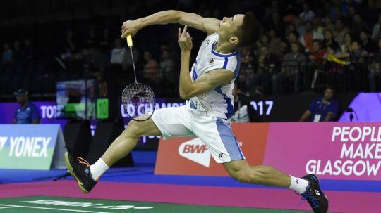 Lee Chong Wei (bill.) måtte yderst overraskende lade livet i første runde ved VM.