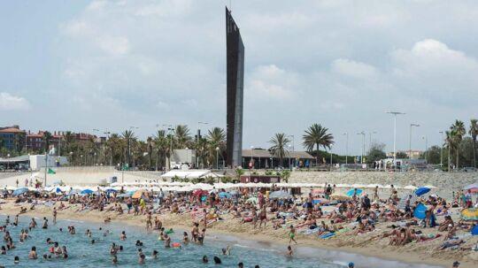 Bogatell beach, Barcelona.