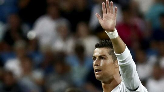 Cristiano Ronaldo var onsdag aften tilbage på Bernabeu.