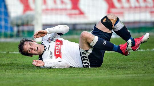 Morten 'Duncan' Rasmussen må nøjes med en plads på reservebænken, når AGF i aften møder AaB i Superligaen.