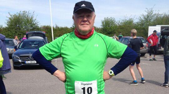 Jens Peder Petersen løber torsdag på sin 70 års fødselsdag sit motionsløb nr. 1.000. Søndag 8. oktober skal han være med i Eremitageløbet for 20. gang.