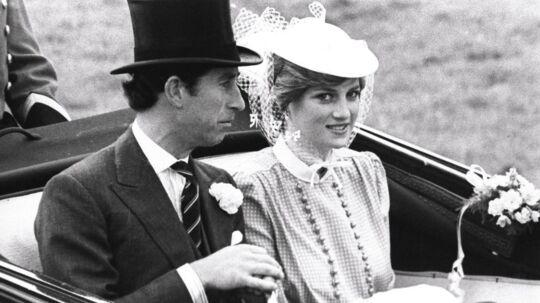 Her ses Diana og Charles, mens de var forlovet.