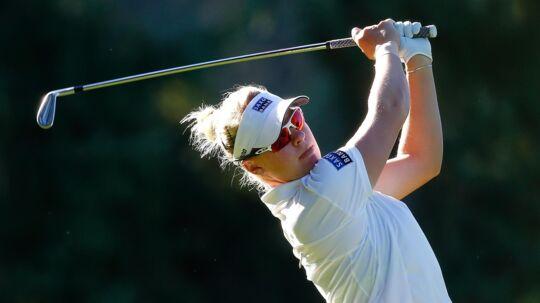 Nicole Broch Larsen er på vej mod endnu et topresultat i sin første sæson på LPGA-touren. Scanpix/Jonathan Ferrey/arkiv