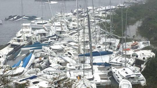 Sådan ser der nu ud på Tortola, som er den største og mest befolkede af de Britiske Jomfruøer.