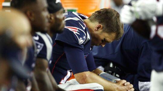 Tom Brady kan ikke længe kalde sig ubesejret, hvis han på hjemmebane fører ved indgangen af 4. quarter.