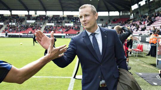 Michael Gravgaard slår fast, at Olafur Kristjansson også er træner efter AGF-kampen. Uanset kampens udfald.