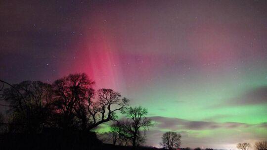 Arkivfoto fra 2014. Heldige danskere kan opleve Nordlys fredag aften.