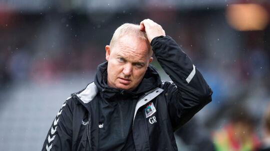 Nederlaget på 1-4 til Randers FC bekom ikke AGF-træner Glen Riddersholm vel.