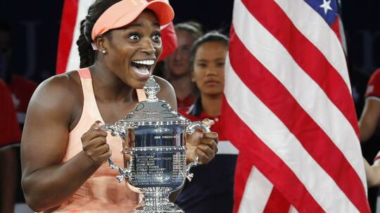 Sloane Stephens vandt US Open-finalen i damesingle over Madison Keys 6-3, 6-0.