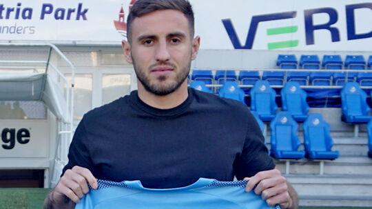 Bashkim Kadrii, da han inden transfervinduet lukkede blev præsenteret i Randers FC