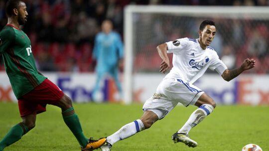 FC København har nu det første point på kontoen i Europa Leagues Gruppe F efter den første kamp mod Lokomotiv Moskva.