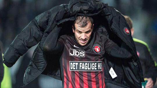 Rafael van der Vaart er i dag for første gang i efterårssæsonen med i FC Midtjyllands førsteholdstrup.