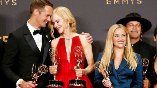69th Primetime Emmy Awards - Photo Room - Los Angeles, California, U.S., 17/09/2017 - Alexander Skarsgard, Nicole Kidman, Reese Witherspoon and others pose with their Emmy for Outstanding Limited Series for Big Little Lies. REUTERS/Lucy Nicholson TPX IMAGES OF THE DAY