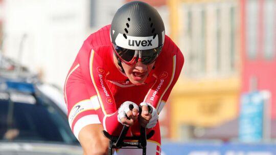 Mikkel Bjerg knuste al modstand ved U23-rytternes VM-enkeltstart mandag og er ny verdensmester. Reuters/Ntb Scanpix
