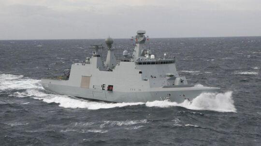 En marineoverkonstabel mistede mandag livet i en ulykke på krigsskibet Absalon. (Arkivfoto)