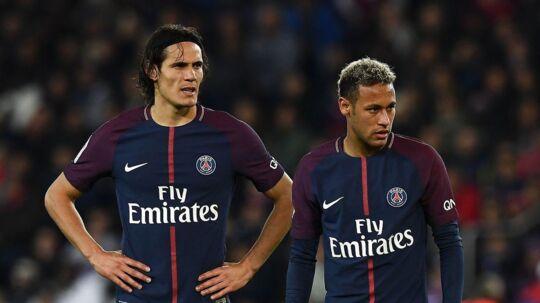 Neymar og Edison Cavani