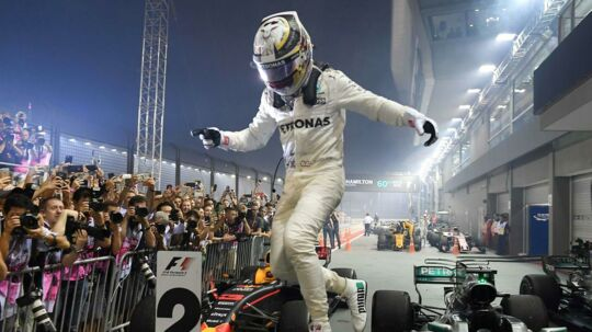 Lewis Hamilton vandt det seneste grand prix i Formel 1-serien i Singapore.