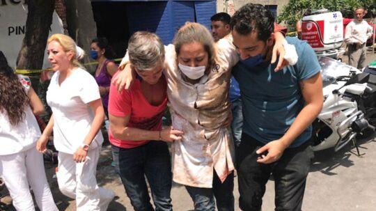 Mexico City: Mindst 93 personer er omkommet under det kraftige jordskælv.