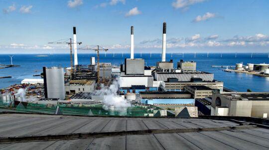 Udsigten fra toppen af forbrændingsanlægget Amager Bakke.