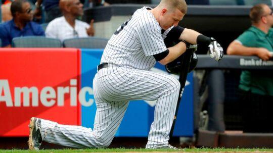Det var en skævert fra New York Yankees Todd Frazier, der ramte den 2-årige pige.