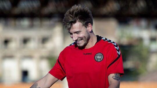 Nicklas Bendtner har for alvor fået gang i målscoringen i Rosenborg. (Foto: Liselotte Sabroe/Scanpix 2017)