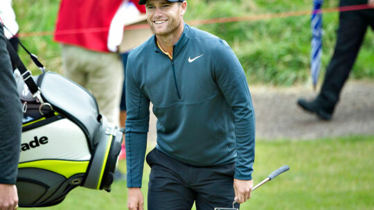 Made in Denmark , Golf European Tour, Himmerland Golf & Spa Resort, 24.august: Lucas Bjerregaard under dagens runde. (foto: Henning Bagger / Scanpix 2017)