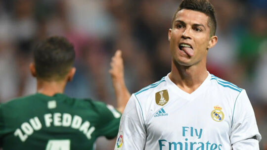Real Madrids Cristiano Ronaldo er favorit til at genvinde Fifa-pris. Scanpix/Gabriel Bouys