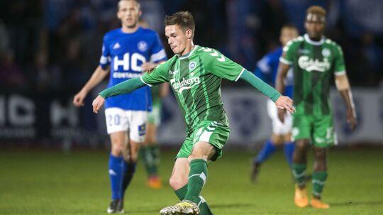 OB (grønne trøjer) vandt 3-2 over Fremad Amager i DBU Pokalen, men for kommentator Morten Thunø var der noget andet, der var vigtigere.