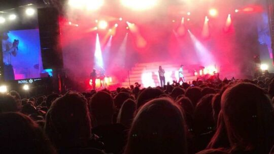 Her ses Nik & Jay på scenen til Fredagsrock i Tivoli.
