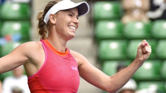 Caroline Wozniacki vandt sæsonens første titel i Tokyo.