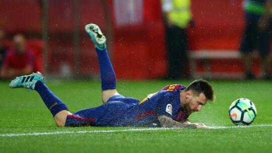 Lionel Messi missede en rekord i weekenden, hvor han ikke kom på tavlen.