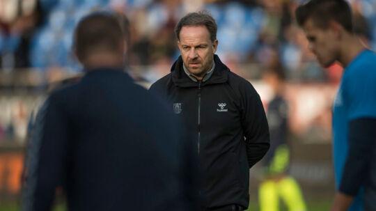 Brøndbys cheftræner Alexander Zorniger under Alka Superliga-kampen mellem Hobro IK og Brøndby IF på DS Arena i Hobro, søndag den 24. september 2017.