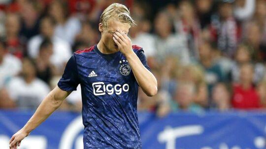 Kasper Dolberg kan ikke score mål på øverste niveau i øjeblikket, men han har masser af tillid fra landstræner Åge Hareide.