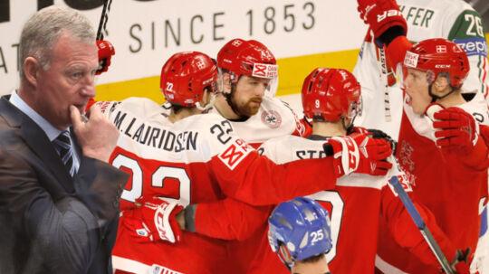 Uafklarede forsikringsspørgsmål er blandt årsagerne til, at ishockeylandstræner Janne Karlsson (tv.) ikke ved, hvor mange af de danske NHL-spillere, der vil være til rådighed ved næste års VM på hjemmebane.