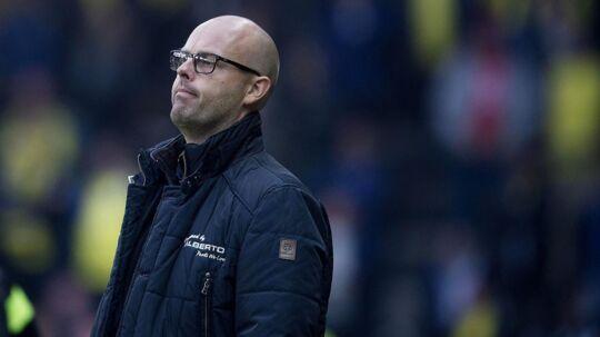 Claus Nørgaard så sit hold lukke fire mål ind på Brøndby Stadion.