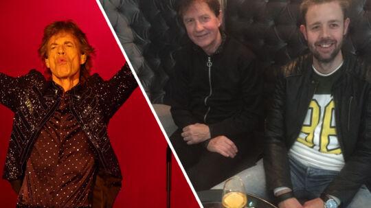 Far og søn, Kaj Tofte Hansen til venstre og Stig Tofte Hansen, ventede i tre en halv time i baren på Hotel D'Angleterre i håb om at møde deres idoler Rolling Stones