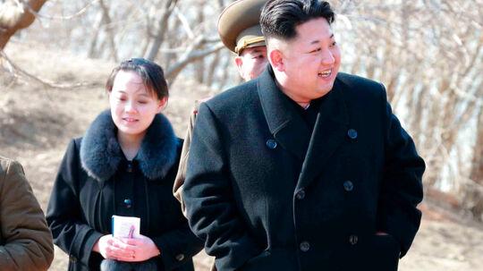 Nordkoreas Kim Jong-un med lillesøster Yo-jong, der forleden blev forfremmet og nu sidder i magtens absolutte inderkreds i landet.