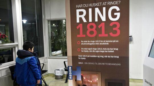 Statsrevisorerne revser den udskældte akuttelefon 1813 - - - - ARKIVFOTO
