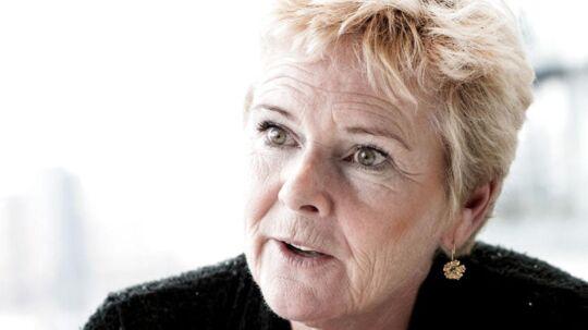 ARKIVFOTO september 2015 af LO formand Lizette Risgaard- - Se RB 22/2 2017 00.15. Der sker solide skridt den rigtige retning mod at få flygtninge i job, mener LO og Dansk Arbejdsgiverforening. . (Foto: Linda Kastrup/Scanpix 2017)