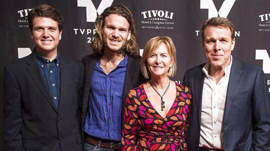 Familien Beha Erichsen, fra venstre Alfred, Emil, Marian og Mikkel.