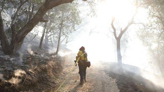 Her ses en brand i Sonoma i Californien.