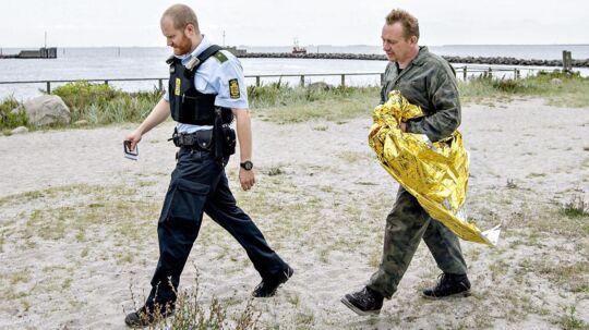 Ubådsbyggeren Peter Madsen ses her den 11. august, efter ubåden sank i Køge Bugt.