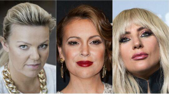 Danske Lina Rafn samt de amerikanske stjerner Alyssa Milano og Lady Gaga er blot nogle af de mange tusinde kvinder, der er er gået med på 'Me too'-bølgen på de sociale medier.